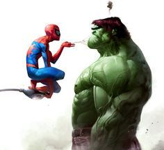 Spiderman vs Hulk - so that's why Spiderman was not included in the latest Avengers movie!