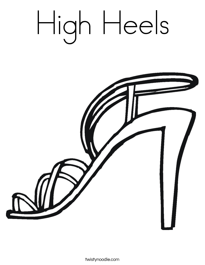high heels shoe coloring pages