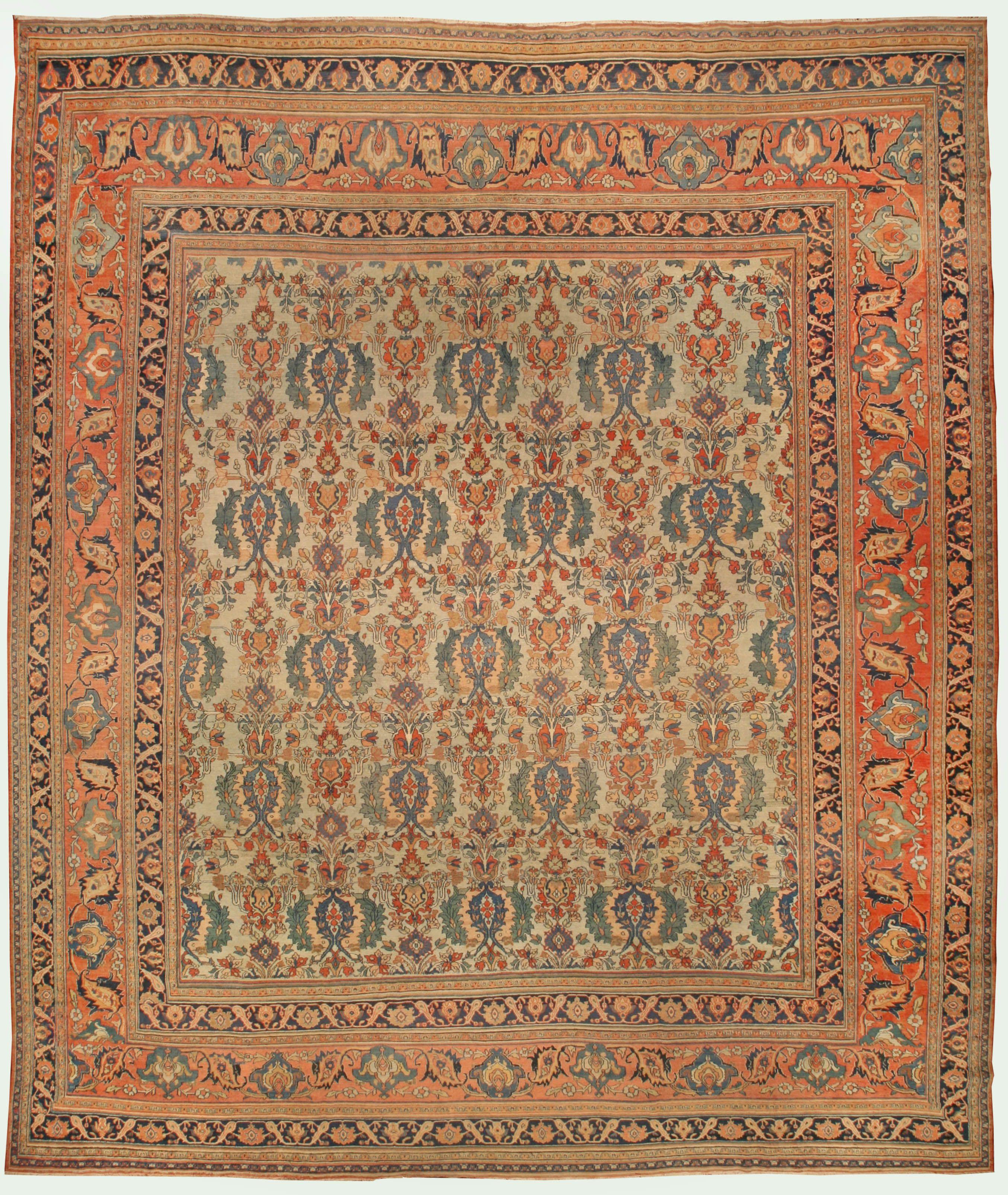 Large Antique Persian Khoran Rug In