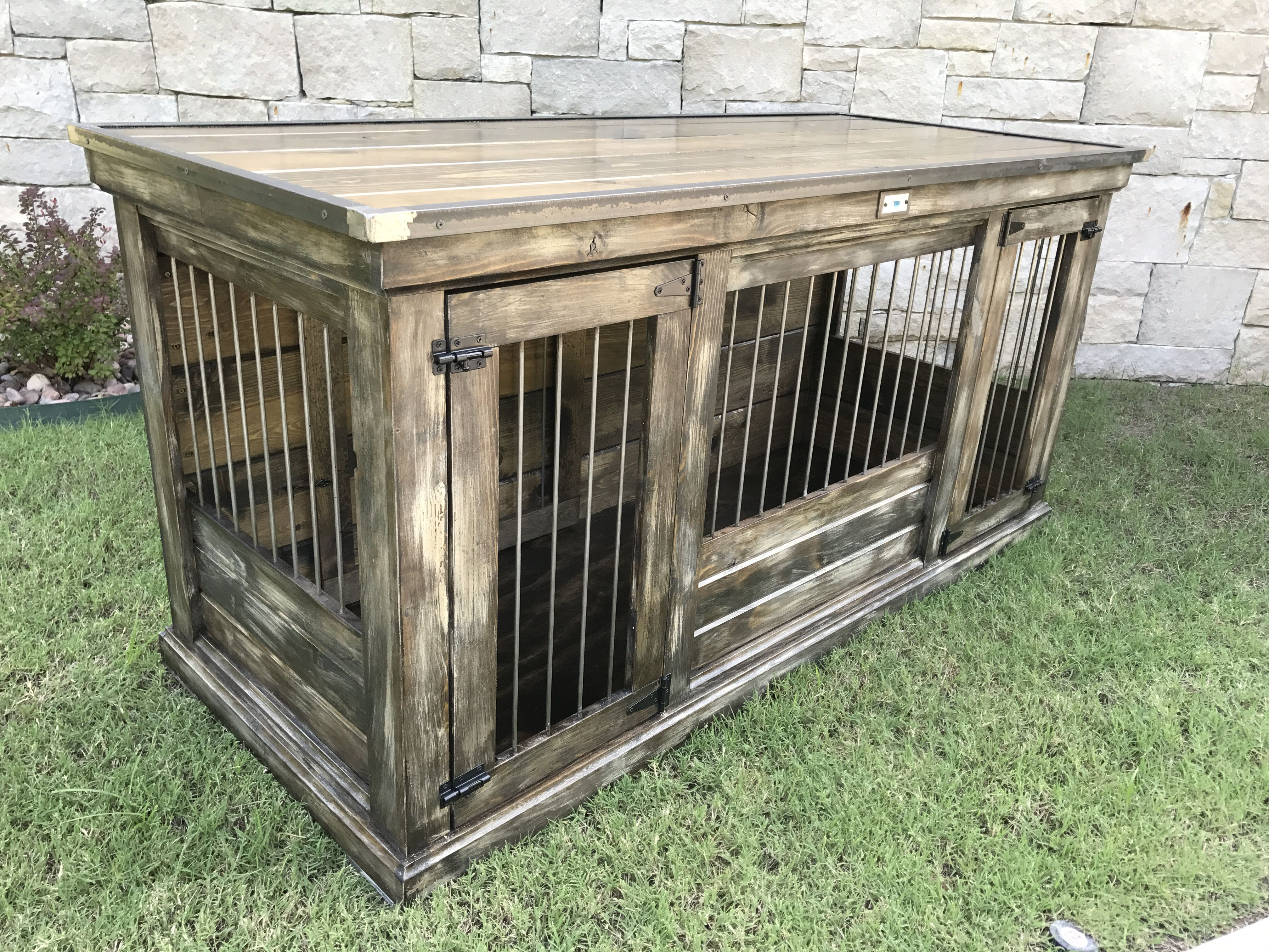 Designer Indoor Dog Kennels Replace Your Wire Dog Crate With A Beautiful Piece Of Functional Furnitu Wooden Dog Kennels Indoor Dog Kennel Dog Crate Furniture