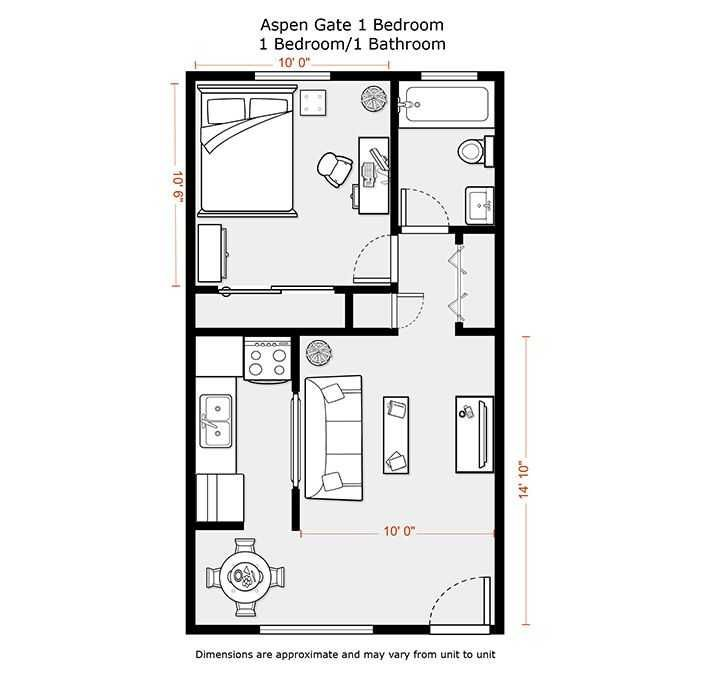Image Result For Tiny 1 Bedroom Floor Plans Small Apartment Plans Studio Apartment Floor Plans Apartment Floor Plans