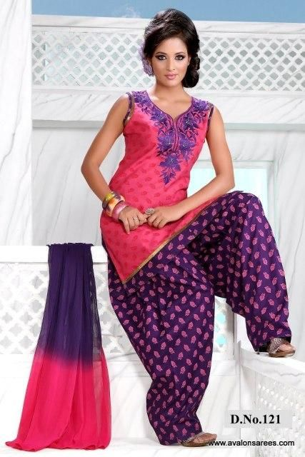 fac8f18528 Latest-Beautiful-Patiala-Salwar-Kameez-Collection-2012-13-For-Girls. embroidered  punjabi suits simple cotton ...