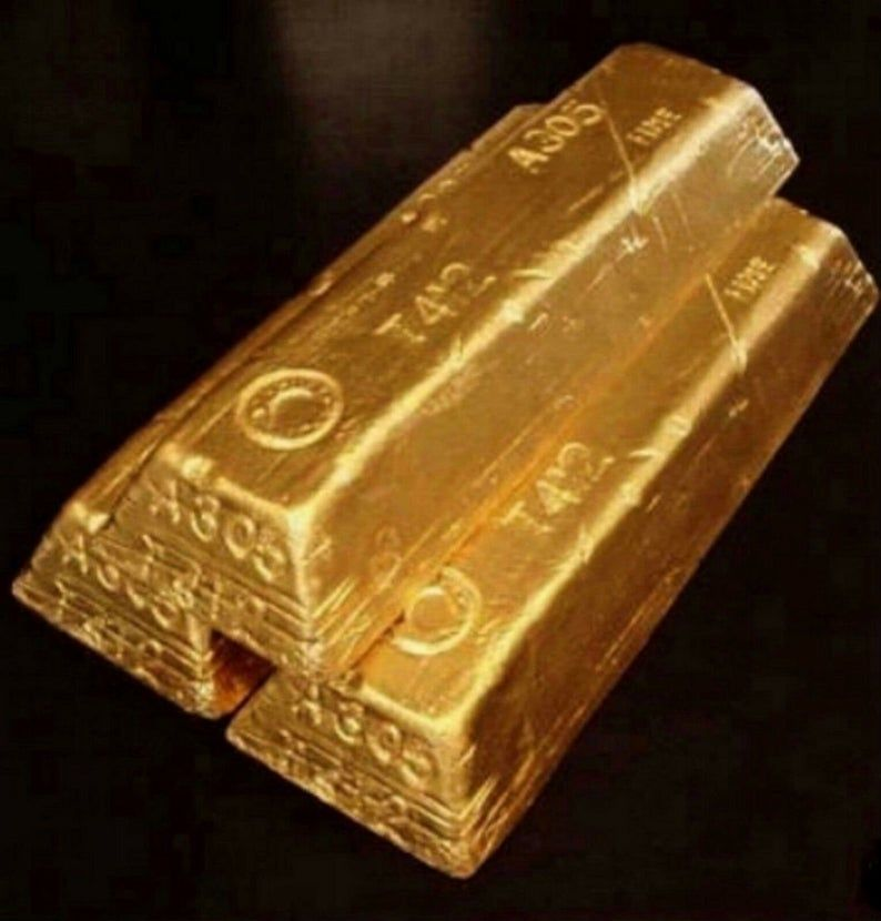 New 3 Fort Knox Gold Bar Brick Ingot Movie Prop Replica Etsy In 2020 Buy Gold And Silver Gold Bullion Bars Buying Gold