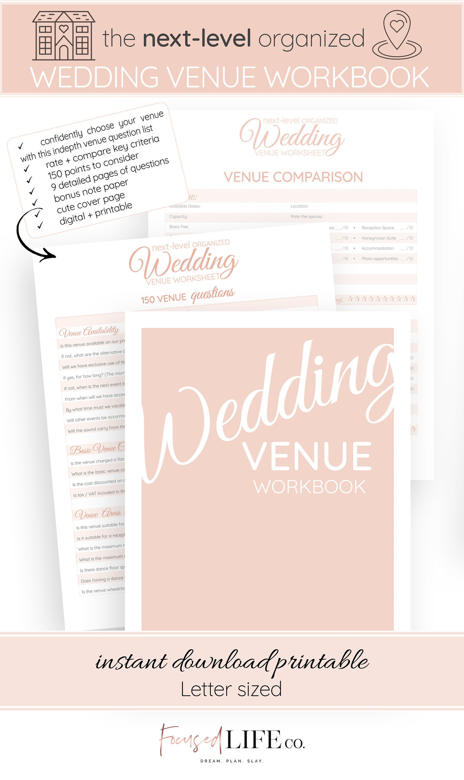 Wedding Venue Questions Workbook