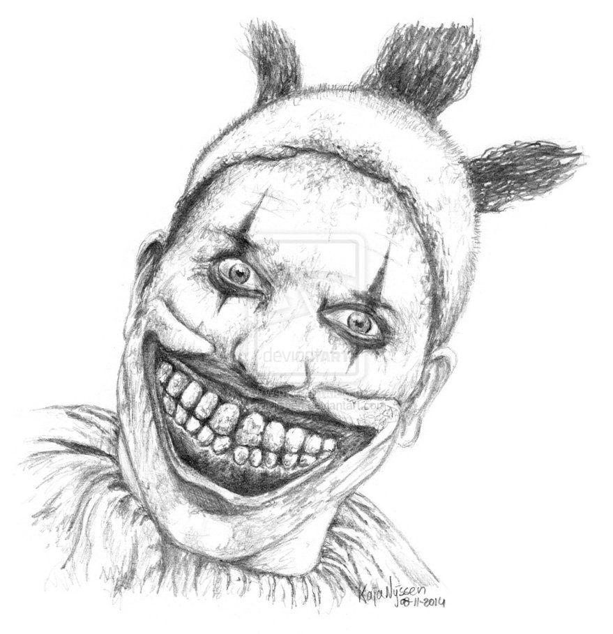 Twisty The Clown By Kajanijssen On Deviantart Scary Drawings American Horror Story Clown Horror Movie Art