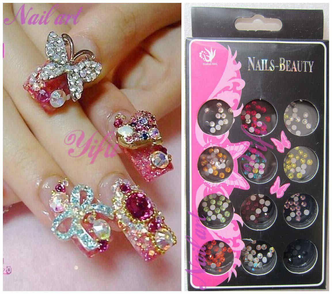 Nail Art Ideas nail art gems designs : uñas en 3D   uñitas :)   Pinterest   Bow nail designs, 3d nail ...