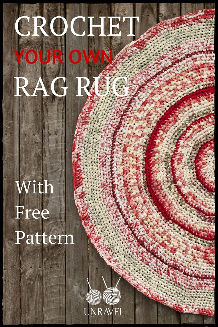 Ever Wanted To Crochet Your Own Rag Rug Want Use Up Scarp Pieces Of Fabric