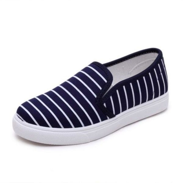 Women Casual Shoes Slip On Loafers Canvas Walking Flats Shoes