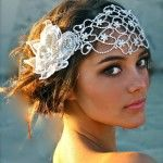 Vintage Hairstyle with a juliet cap