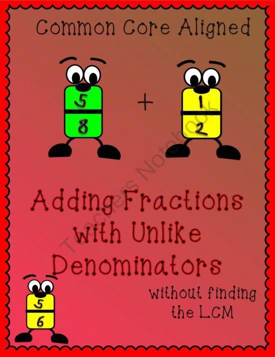 Adding Fractions with Unlike Denominators Using Patterns | Pinterest