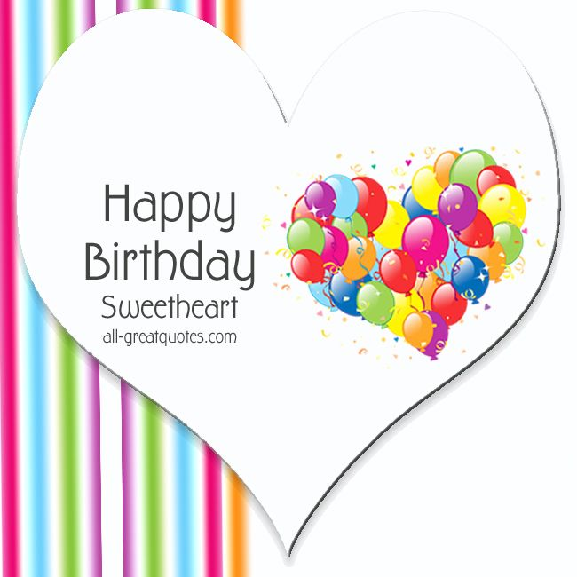 Free Heart Birthday Card | Happy Birthday Sweetheart