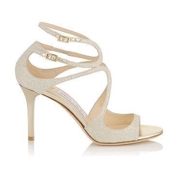 IVETTE Platinum Ice Dusty Glitter Sandals by Jimmy Choo. From red carpets  to dance floors, these strappy sandals are iconic Jimmy Choo. The delicat…