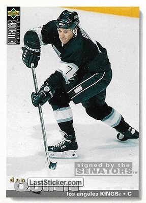 Dan Quinn 1995 96 Los Angeles Kings Upper Deck Nhl Collector S Choice 1995 1996 Collection Preview Laststicker Com Nel 2020