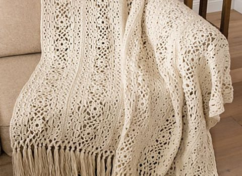 Irish Lace Blanket Free Crochet Pattern Will Add Elegance To Your Room - Knit And Crochet Daily