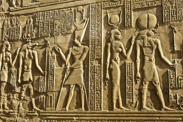 Egyptian Relief Sculpture Egyptian Temple Art Photograph