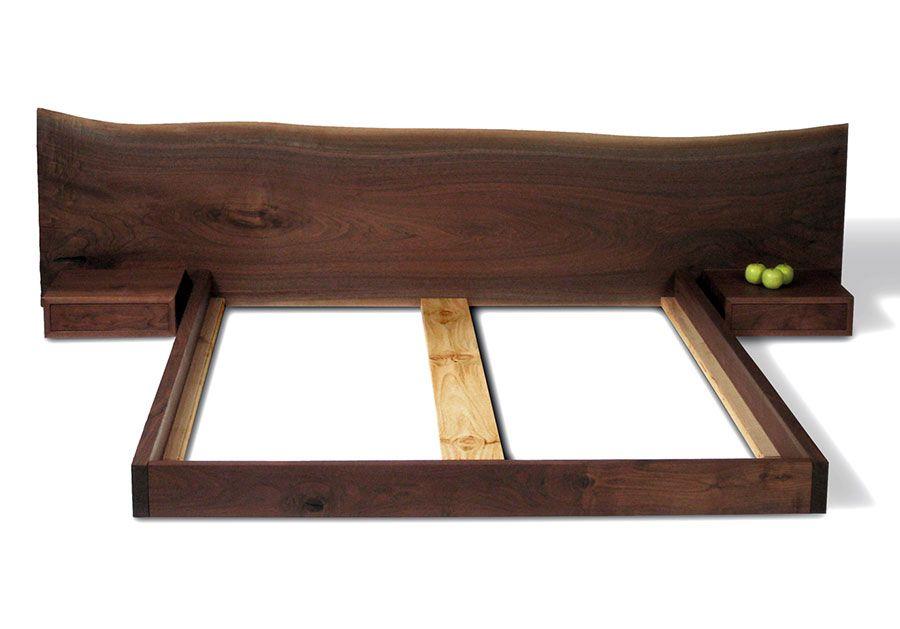 Custom Live Edge Slab Fenton Bed Sustainable Wood