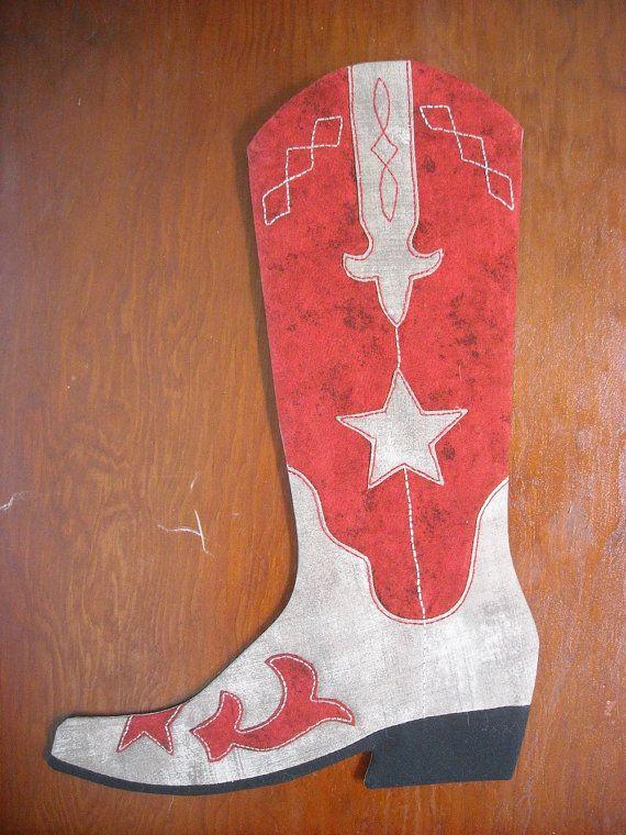 Cowboy Boot Christmas Stockings Pattern, 2015-2016 print version