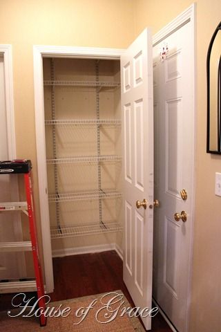 Great Idea For Closet To Turn Into Pantry | Kitchen | Pinterest | Pantry,  Organizations And Closet Transformation
