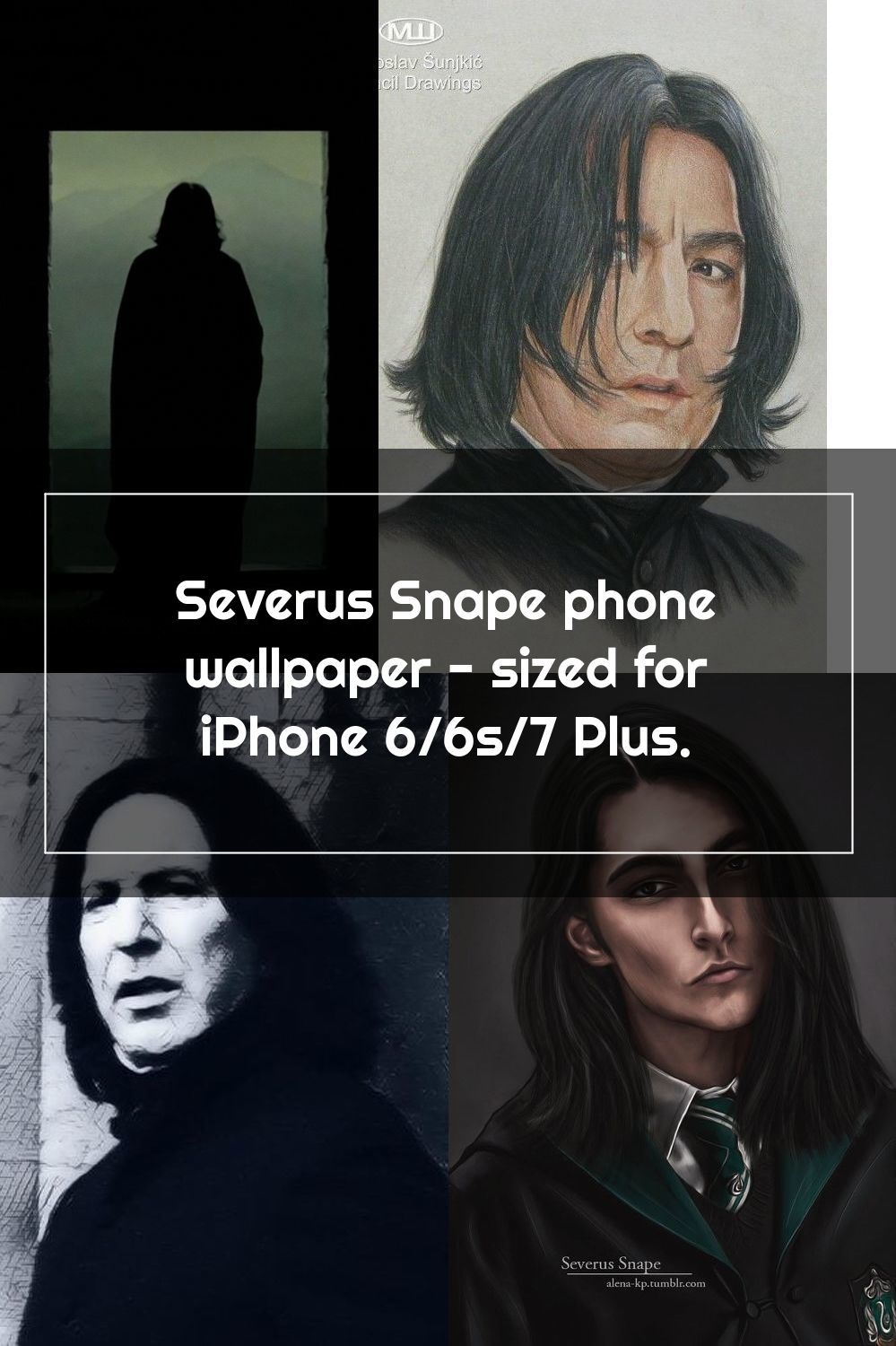 Severus Snape phone wallpaper sized for iPhone 6/6s/7