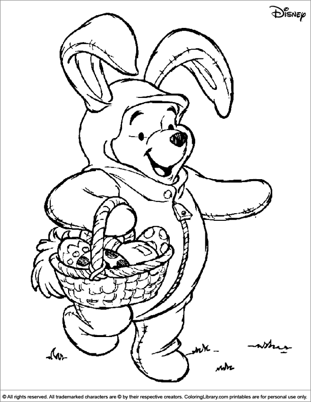 Winnie The Pooh Easter Coloring Cute Disney Coloring Pages Free Disney Coloring Pages Easter Coloring Pages