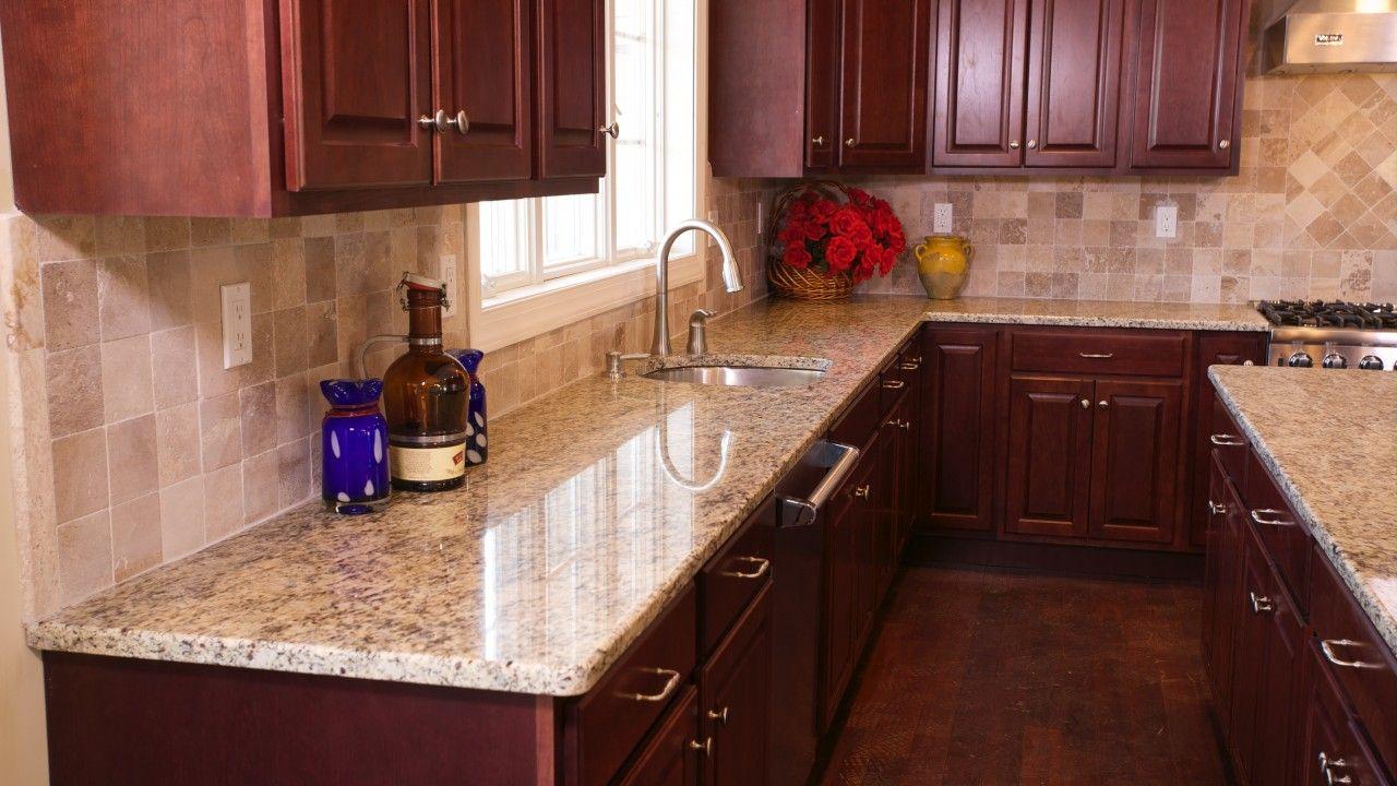 Giallo Ornamental Granite Kitchen Counters Kitchen