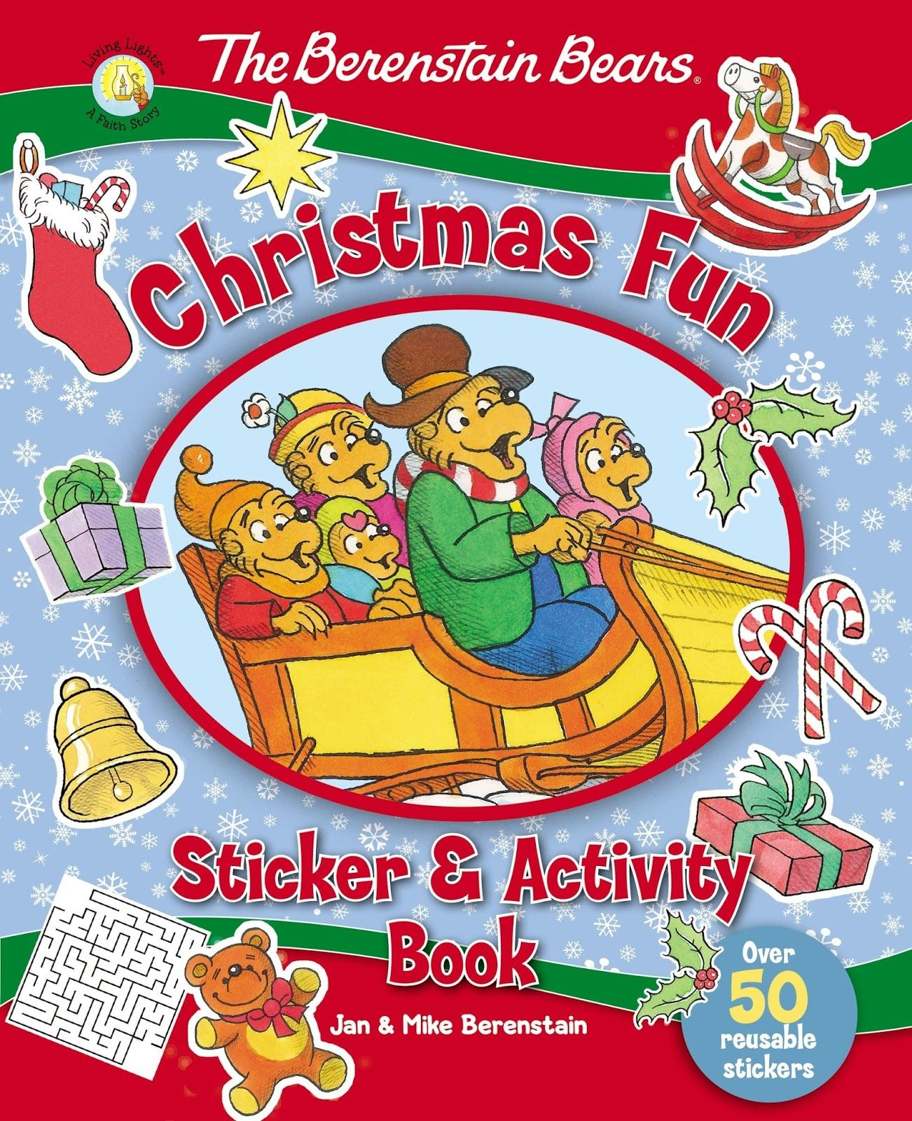 The Berenstain Bears Bear Christmas Fun Sticker Activity Book Is A 32 Page