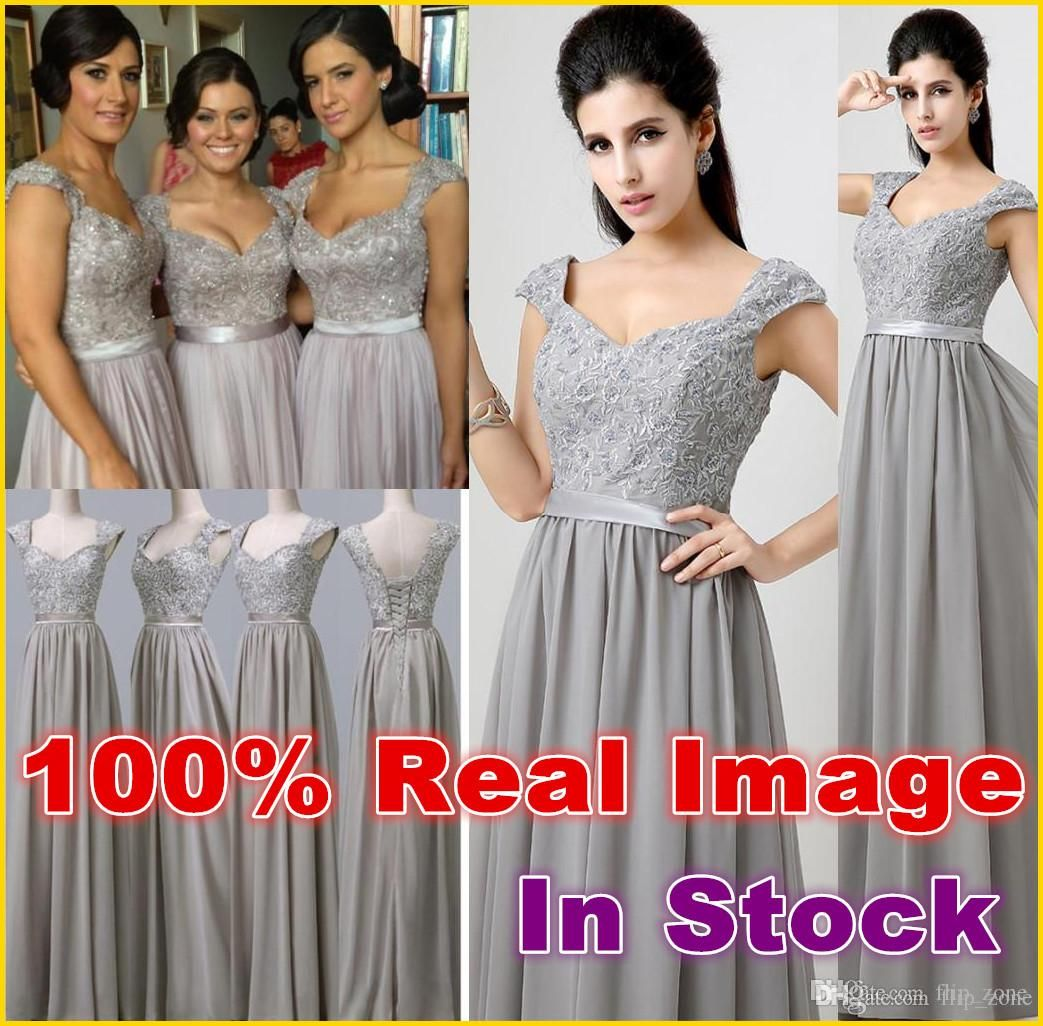 Long Silver Bridesmaid Dresses | Good Dresses
