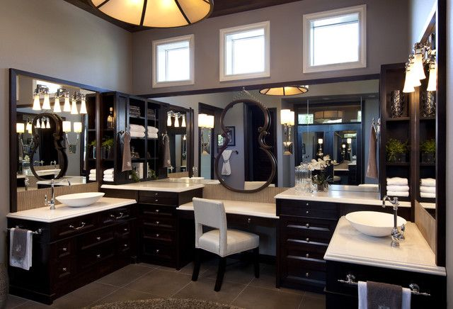 Master Bathroom His And Hers chic & sheik: a his and hers lifestyle home | traditional design