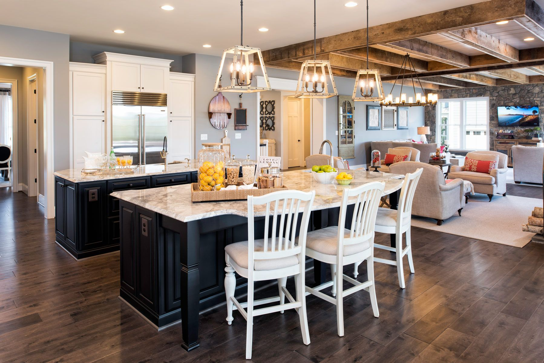 An especially spacious kitchen like the one found inside the