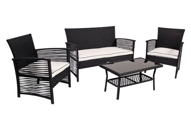 Tavoli E Sedie Da Giardino Brico.Vendita Online Per Salotto Da Giardino Miami Wicker Nero Pratiko