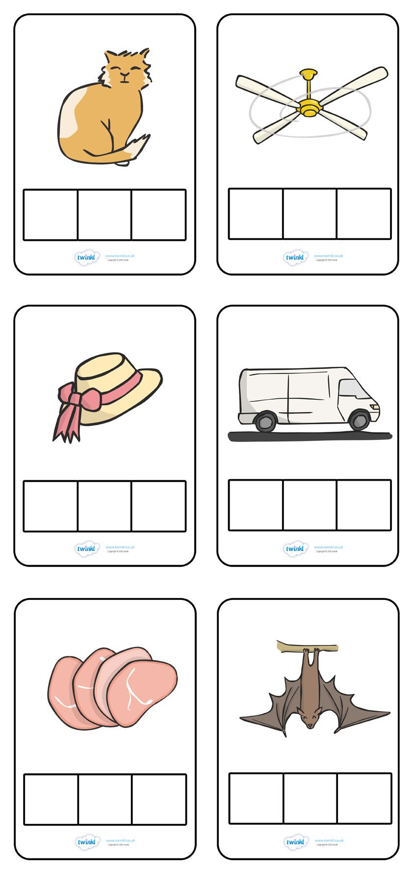 CVC Words Phoneme Frames - Pop over to our site at www.twinkl.co.uk ...