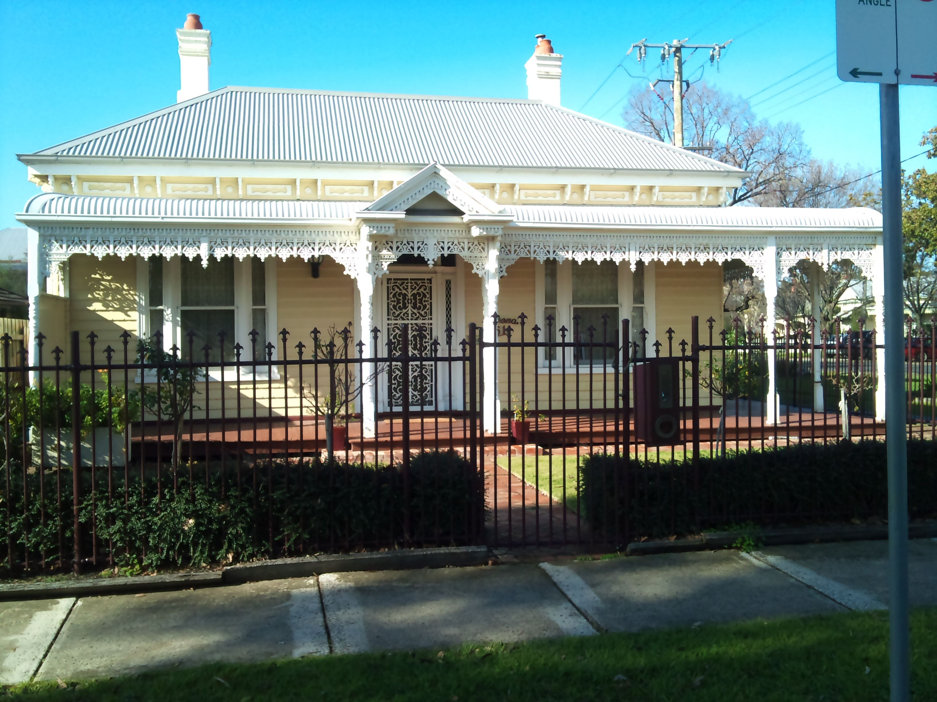 this image shows a very typical victorian style home the verandah and centred door with - Australian Victorian Houses