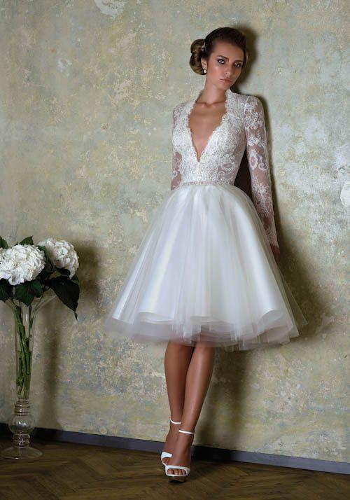 vestido de novia corto reception dress or outdoor wedding dress