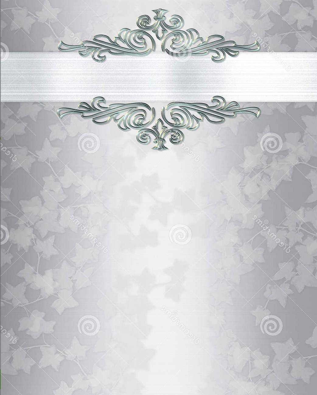 Blank Wedding Invitations Marina Gallery Fine Art Silver Wedding Invitations Wedding Invitation Background Blank Wedding Invitations