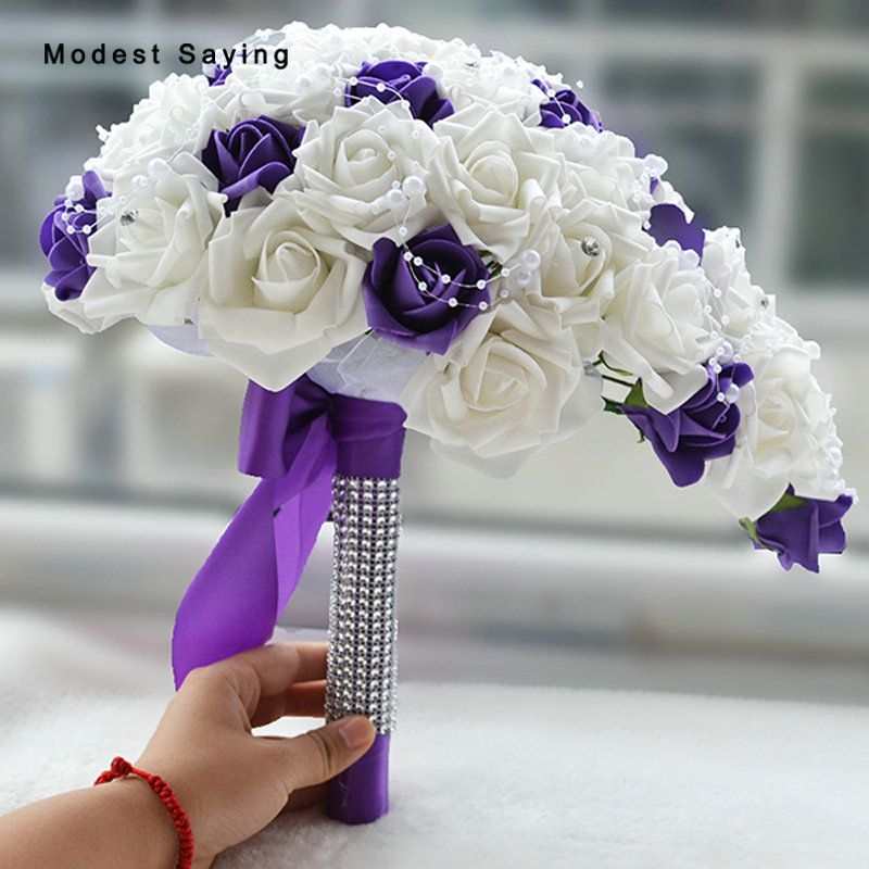 Find More Wedding Bouquets Information about Elegant Dripping Shape Romantic Purple Artificial Wedding Flowers Bouquets 2017 Bridal Bridesmaid Bouquets bouquet de mariage,High Quality bouquet de mariage,China bridesmaid bouquet Suppliers, Cheap wedding flower bouquet from modest saying Lacebridal Store on Aliexpress.com