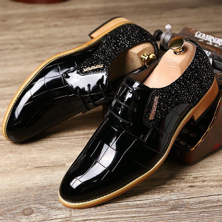 Oxfords For Shoes Vintage Men Formal Leather Dress TPXZiuOk