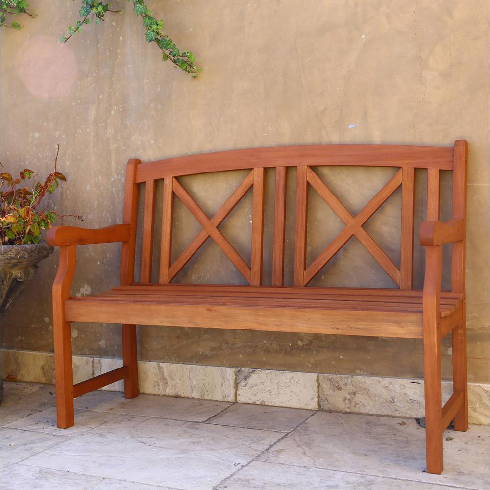 Null eucalyptus seater wood patio bench library pinterest