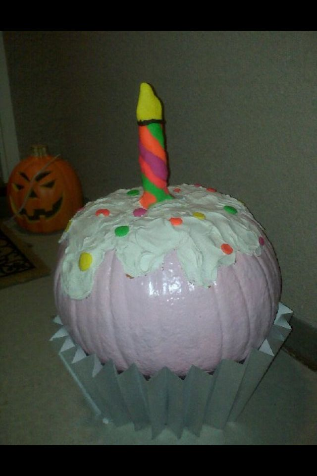 cupcake no carve halloween pumpkin
