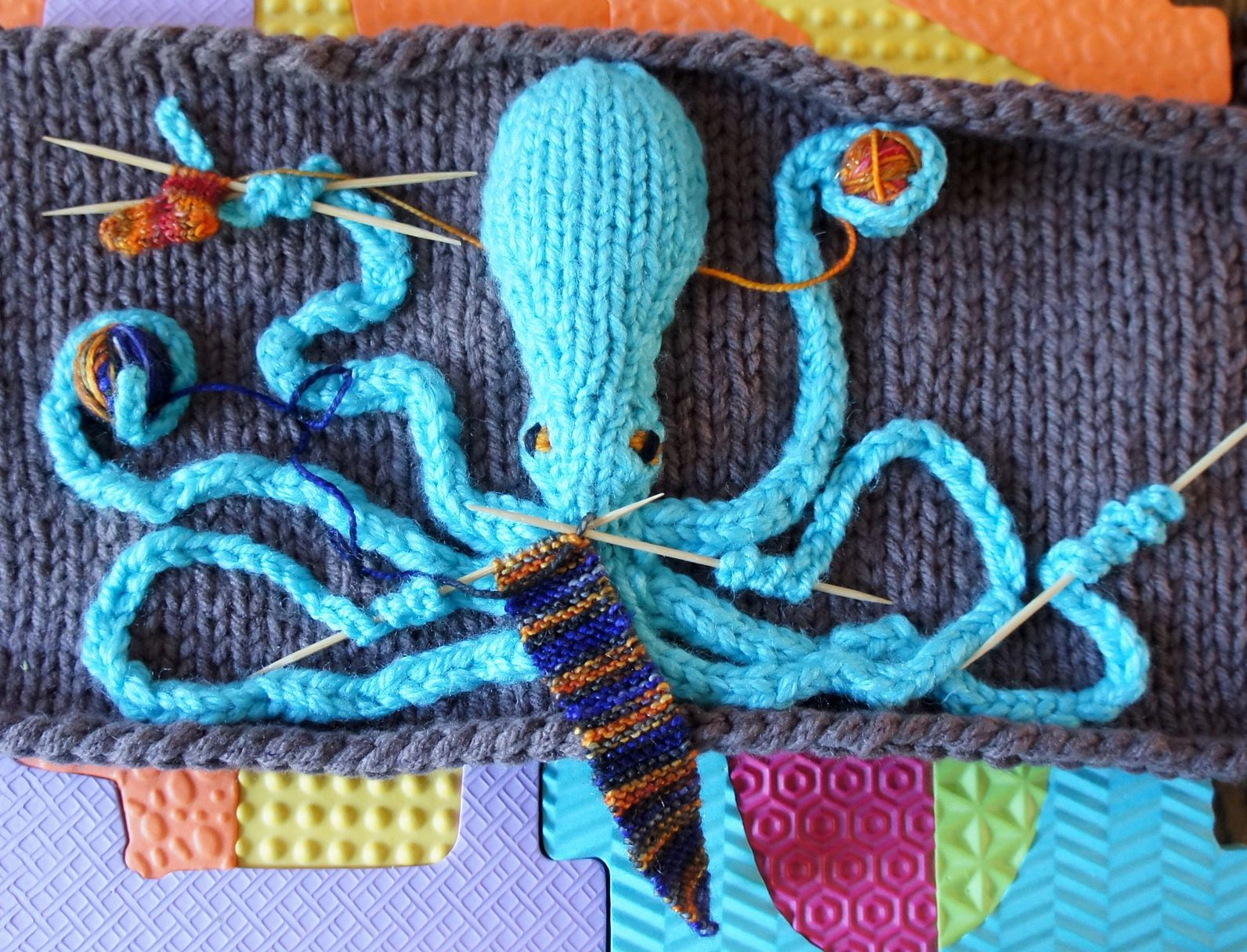 Free Knitting Pattern for Demi Octopus   Knitting   Pinterest ...