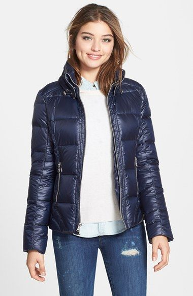 GUESS+Front+Zip+Quilted+Jacket+(Online+Only)+available+at+#Nordstrom