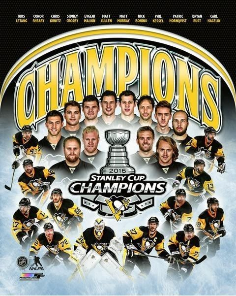 "Pittsburgh Penguins 2016 Stanley Cup Champions Team Photo TB075 (Size: 8"" x 10"") #NHL #PittsburghPenguins"