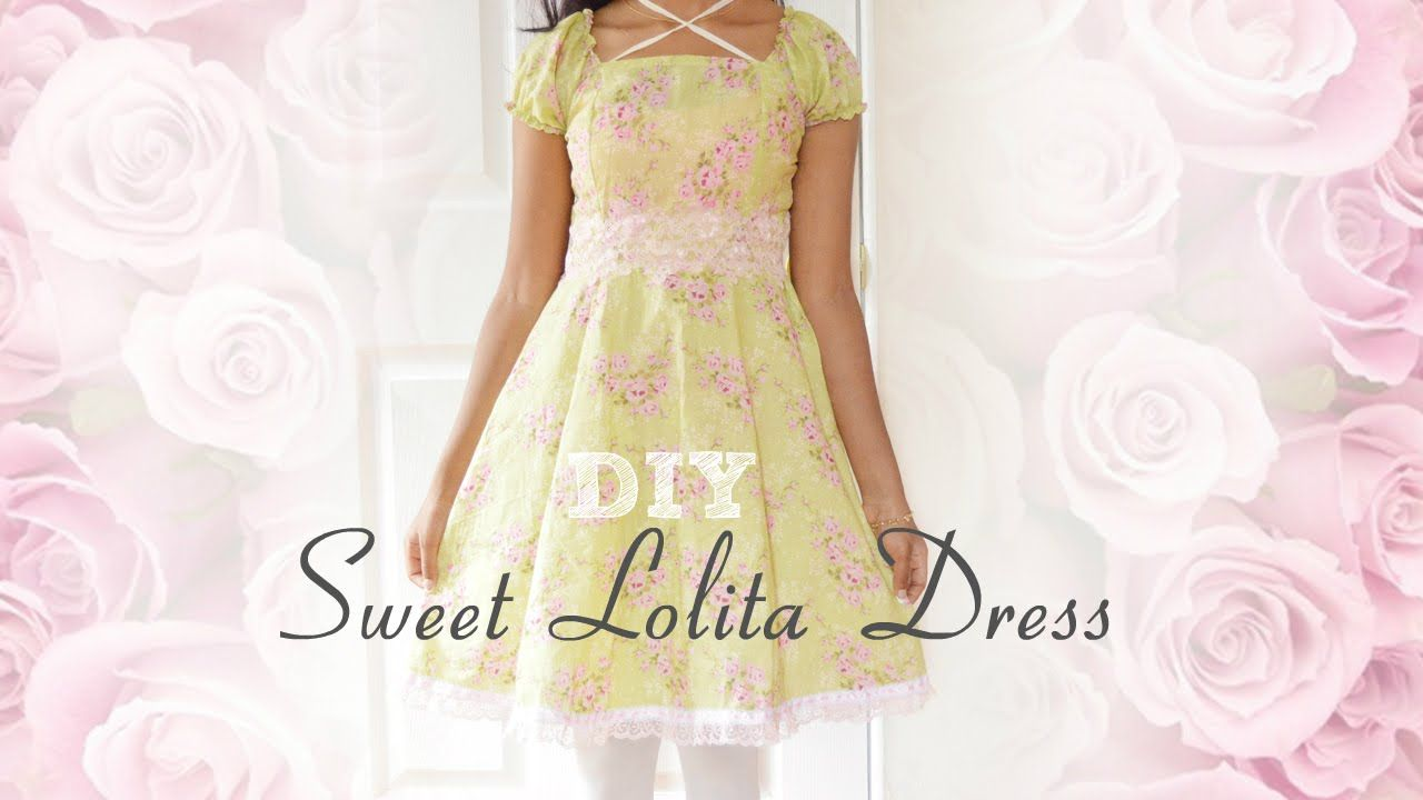 6561741e56 DIY  How to sew a Sweet Lolita Dress ❤ (without a pattern)