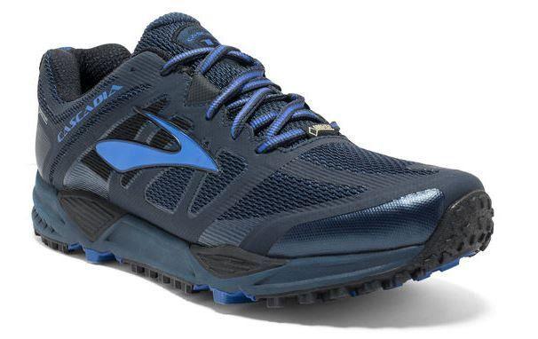6da67333132b1 Brooks Men s Cascadia 11 GTX Trail Running Shoe - 10.5 - Dress Blues    Electric Brooks