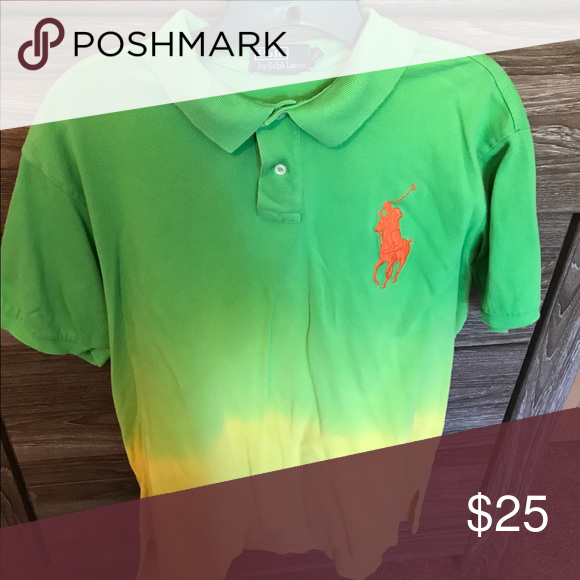 Polo TieDie Gradient look Like and neon yellow tie dye