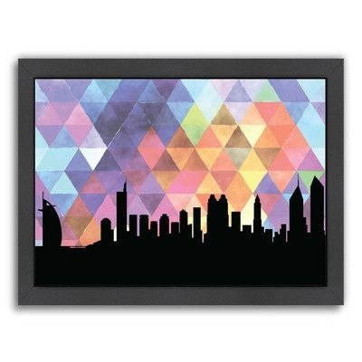 Americanflat PaperFinch Designs Dubai Triangle by Amy Braswell Framed Graphic Art Size: