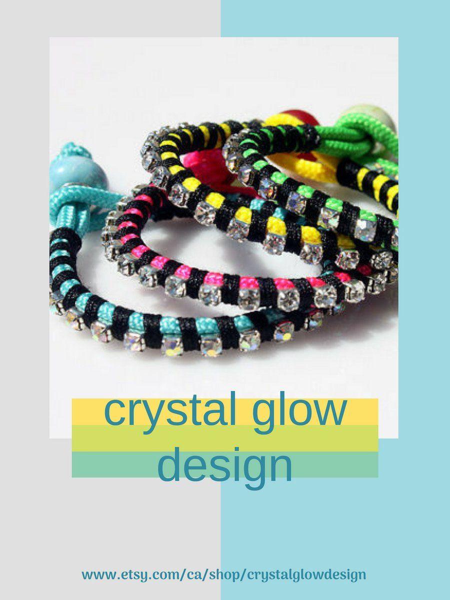Rhinestone chain bracelet paracord bracelet friendship bracelet