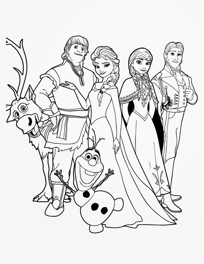 15 Beautiful Disney Frozen Coloring Pages Free Instant Knowledge