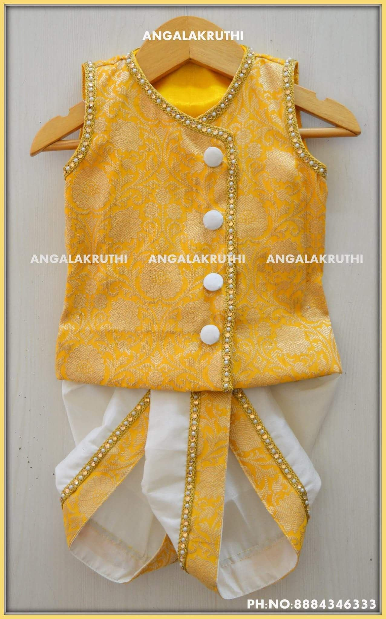 Just born Indian style dress designs by Angalakruthi boutique