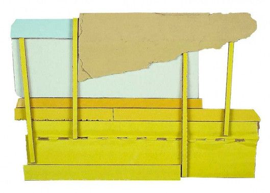 """Ryan Sarah Murphy, Exception 2012, found carboard and glue, 4.25"""" X 6.25"""""""