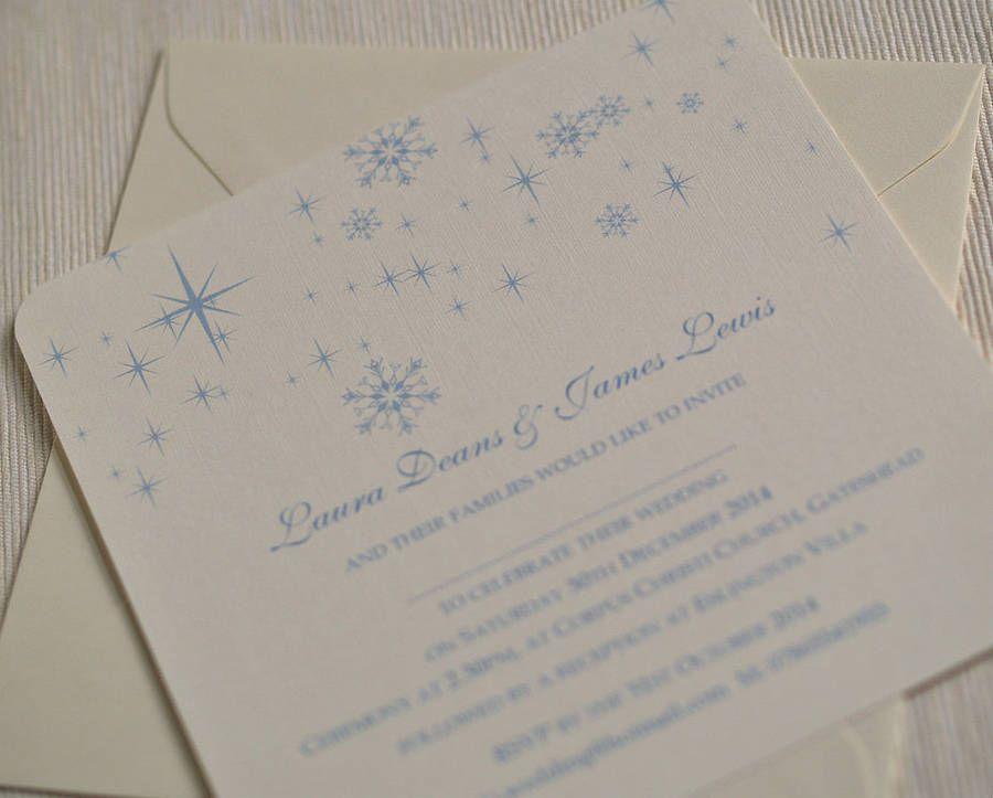 Snowflake Winter Themed Wedding Invitations